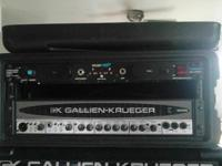 like new g k rb1001ii bass head 700 watt and 50 watt bi