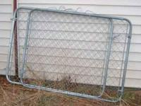 Two Galvanized Chainlink Gates - $20 Each 4 ft. high x