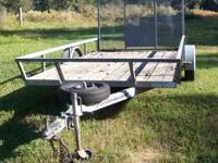 Nice Galvanized utility trailer, will never rust! First