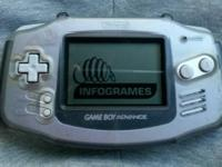 Platinum Game boy Advance Console With Protective