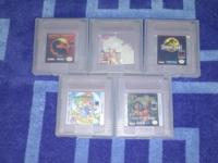 I have five Game Boy games for sale must be in person