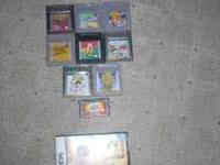 There are 8 gameboy and gameboy color games,1 gameboy