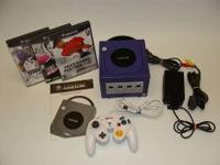 Up for sale is a lightly used Purple Nintendo Game Cube