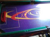 6-in-1 table ping pong, pool, electric air hockey,