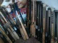 I have 17 game used and autographed bats of players who