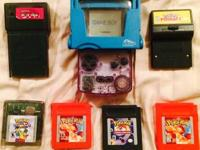Up for sale is a Clear Purple Gameboy color in
