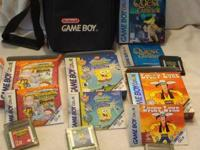 Includes 4 Game boy/Gameboy Advance games and a black