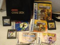 Includes 5 Game boy/Gameboy Advance games and a black