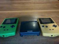 GAMEBOY SP AND 2 GAMEBOY COLORS *** the back of the