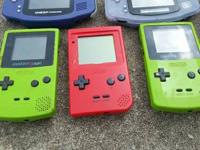 hey. I have 4 gameboy for sale. one green gameboy color