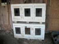 I have two 3 stall rest boxes for chickens you get both
