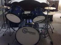 This is a used set. One of the drums will need fixed;