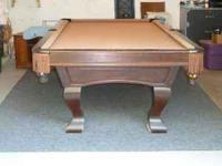 Gandy pool table, custom pool table with mother of