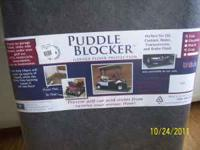 Puddle Blocker garage/floor protector gray with poly
