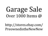 Over 1000 items. Pre Owned, washed, ran through our O3