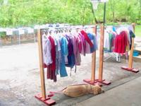 The HangOutis a portable clothes rack, made in the USA