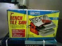 "7"" Bench Tile Saw ; NEW, UNOPENED, STILL IN BOX - $60 -"