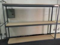 Boltless Garage Shelving 96 inches long by 18 inches