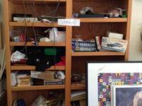 8 foot workbench 8 foot tall Oaks storage shelves 3