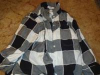 Thin V neck mens t shirt. Size L. Black white and pint