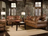 Garcia Straw Sofa Group * Covered in genuine bonded