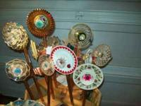 I make garden art for many fairs, and bazaars. I have a