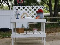 Upcycled Home made Garden Benches Beautifully display