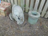 Three Piece Garden Birdbath. $25.00. Call Linny at  for