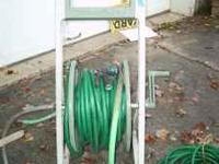 Plastic Garden Hose Cart and multiple sections of