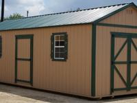 12'x28' Side Utility Storage Shed, portable building.