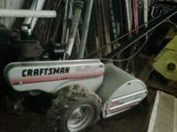 Craftsman 3.5 H.P. rear tine tiller. Great shape, used