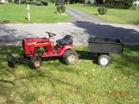 GARDEN TRACTOR w/ plow. Used Murray 11 hp garden