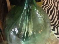 "Colossal Green Glass Bubble Jar 29"" Tall $75. Eclectic"