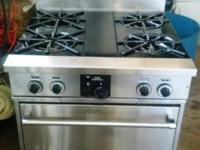 "Very Nice Gently utilized 30"" 4 burner Gas Range Only"