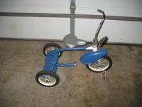 Old Garton two-step art deco tricycle. Rare tricycle.