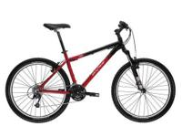 "Metallic Black/Red Frame; 19"" Genesis Geometry 6061-T6"