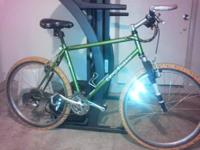 Lime green, white WTB tires, Gary Fisher - aquila for