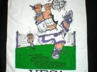 This hand towel with a tennis player on it is done by