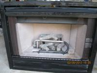 This is a gas fireplace that has to be installed - it