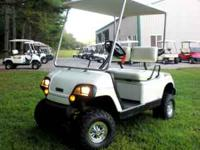 "This cart has a 301cc yamaha gas engine, new 4"" lift"