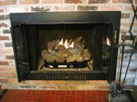 Like New Vent-Free Gas Log fireplace insert. ProCom