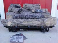 "24"" PROPANE GAS LOGS - VENT FREE & IN A LIKE NEW"
