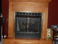 We are selling a beautful Gas oak ventless fireplace.