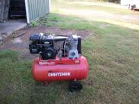 Craftsman portable air compressor. Recovers fast. Very