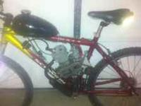 it has a new motor and jack shaft. very nice bike not a