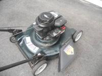 1. Bolins 4 hp 21 inch side discharge mower. 2. Bolins