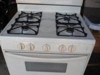 Gas stove/range, exceptional condition, almond color,