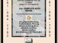 A & A Full Automobile Repair work. Your One Stop Buy