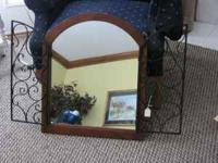Beautiful gated mirror. open or closed it is