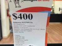 This Gateway NV570P13u is a touchscreen Windows 8.1